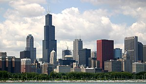 Loop skyline from the lakefront, Chicago, IL, USA