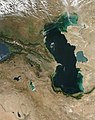 2004 satelllite picture of the Caucaus and the Caspian Sea.jpg