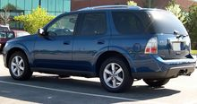 Rear View Of 2005 Saab 9 7x Arc In Ocean Blue Metallic