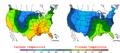 2007-03-31 Color Max-min Temperature Map NOAA.png