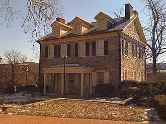 William Allen (loyalist) - Trout Hall (built 1770) is the oldest house in Allentown, Pennsylvania, and was built by James Allen, son of William Allen.  From 1867 to 1905, it was also the home of Muhlenberg College.