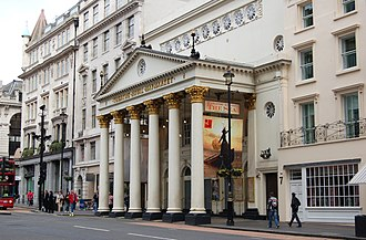 Theatre Royal Haymarket - The theatre in 2008, showing Edward Bond's The Sea