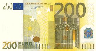 200 Euro.Recto.printcode place