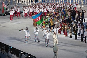 Azerbaijan at the 2010 Winter Olympics - Azerbaijani team at the opening ceremony.