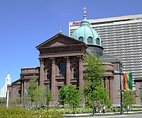 2013 Cathedral Basilica of Saints Peter and Paul from across the Benjamin Franklin Parkway 2.jpg