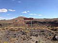 2014-07-18 16 35 31 Sign at the north lip of the Lunar Crater, Nevada.JPG