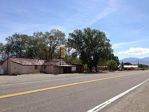 Carvers, Nevada - Businesses on SR 376 in Carvers
