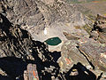 2014-09-24 12 44 16 Tiny unnamed glacial tarn just north of and over 1,000 feet below Hole-in-the-Mountain Peak, Nevada.JPG