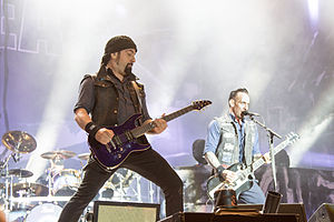 Volbeat - Rob Caggiano and Michael Poulsen at Nova Rock 2014