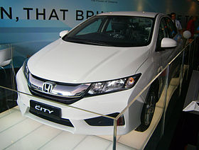 2014 Honda City (pre-launch display unit) in Glenmarie, Malaysia (01).jpg