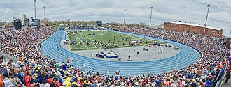 Drake Relays - Drake Stadium during the Saturday session of the 2014 Drake Relays presented by Hy-Vee