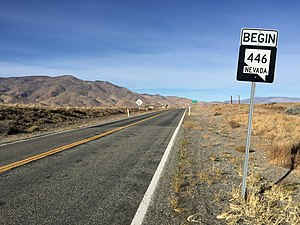 Nevada State Route 446 - View at the east end of SR 446 looking westbound