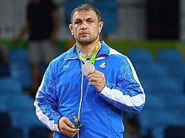 2016 Summer Olympics, Men's Freestyle Wrestling 125 kg final 11.jpg