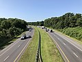 2019-07-25 09 59 38 View south along Interstate 97 from the overpass for northbound Maryland State Route 3 (Robert Crain Highway) in Millersville, Anne Arundel County, Maryland.jpg