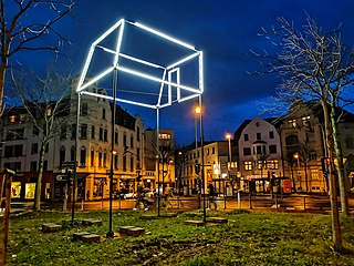 Das Zimmer; Lichtskulpturen Beethoven 2020 (Bonn)