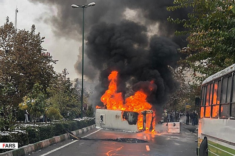 File:2019 Iranian fuel protests Fars News (2).jpg