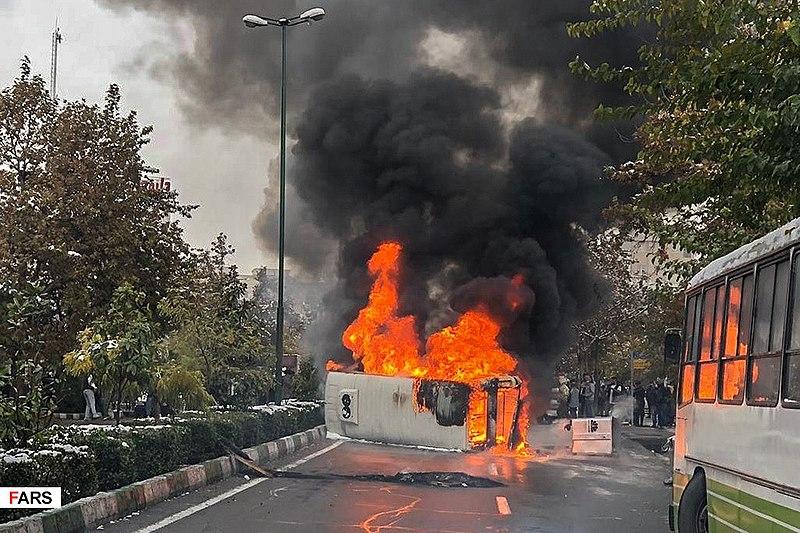 File:2019 Iranian fuel protests Fars News (2).jpg