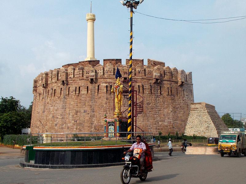 File:23 - Telugu Talli Statue with Kondareddy Buruju as background.JPG