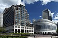 25 Cabot Square with 20 Cabot Square in London Borough of Tower Hamlets, spring 2013 (2).jpg