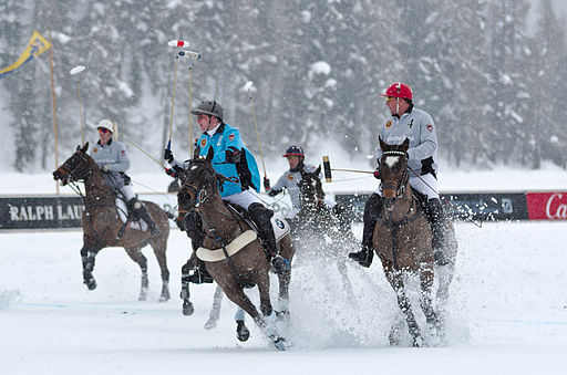 30th St. Moritz Polo World Cup on Snow - 20140201 - BMW vs Deutsche Bank 3