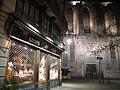 35 Plaça de Sant Josep Oriol (Barcelona), al fons Santa Maria del Pi.jpg