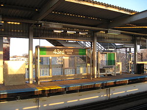 43rd station - Image: 43rd Street CTA Station