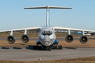 Ilyushin Il-76 - Il-76TD-90, Aviadvigatel PS-90 engines have larger diameter