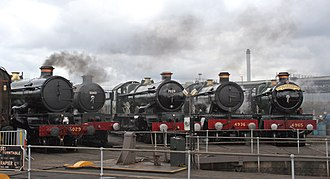Tyseley Locomotive Works - ex-GWR locomotives at Tyseley