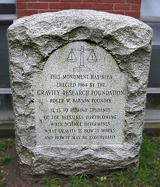 Gravity Research Foundation - Image: 5066 enc gravity monument e small