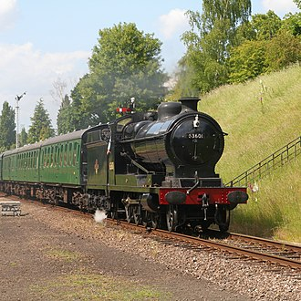GCR Class 8K - 63601 rolling into Rothley on the Great Central Railway