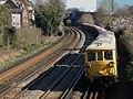 73201 Broadlands and 73207 Hoo Junction up yard to Battersea Pier Junction 6G23 (13033365915).jpg