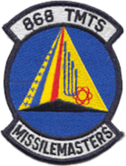 868th Tactical Missile Training Squadron - Emblem