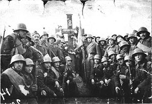 8th Cavalery Regiment (Bulgaria) in Bujanovac, Serbia, WWII.jpg