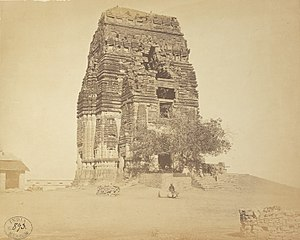 Teli ka Mandir - Image: 8th or 9th century ruined Teli ka Mandir before restoration, Gwalior Madhya Pradesh, east view 1869