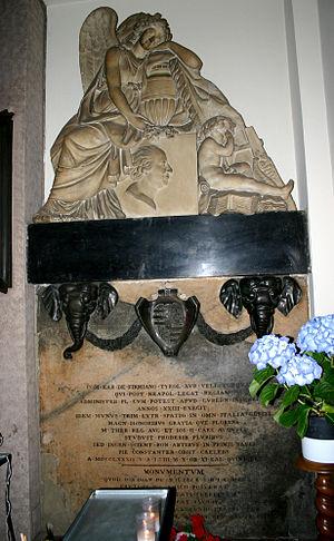 Karl Joseph von Firmian - Funereal Monument for Karl Joseph in church of San Bartolomeo.