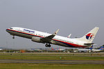 9M-MLH - Malaysia Airlines - Boeing 737-8FZ(WL) - CAN (11907089455).jpg