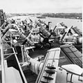 A-1 Skyraiders on USNS Core (T-AKV-41) at Saigon c1965.jpg