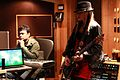 A.R.Rahman with Orianthi during the recording of Sadda Haq.jpg