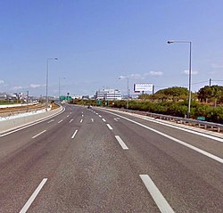 A62 Motorway near the International Airport El.Venizelos at Athens.jpg