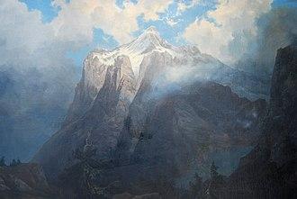 Mount Brewer - Albert Bierstadt - Mount Brewer from King's River Canyon, CA