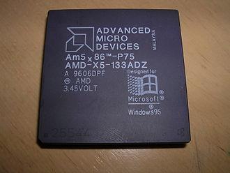 Am5x86 - Image: AMD Am 5x 86 P75