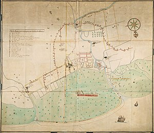 AMH-4658-NA Map of the fort at Samarang