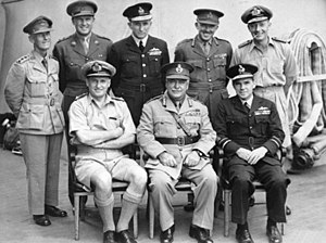 Frank Berryman - Berryman (back row, second from right) with General Sir Thomas Blamey (front row, centre) and the other  Australian delegates to the Japanese surrender aboard USS Missouri, September 1945