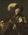 A Boy Playing the Lute ( Hearing , One of a Series of the Five Senses) (Hendrick Terbrugghen) - Nationalmuseum - 18490.tif