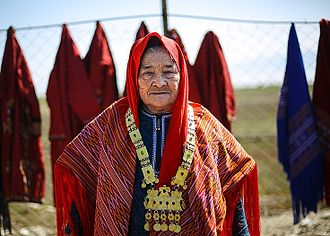 Turkmens - Turkmen woman in Bandar Torkaman, Iran