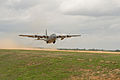 A U.S. Air Force C-130 Hercules aircraft takes off during Joint Readiness Training Center (JRTC) 14-05 training at Fort Polk, La., March 14, 2014 140314-F-RW714-090.jpg