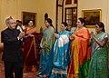 A Women Delegation from Andhra Pradesh led by Smt. Hemalatha meeting the President, Shri Pranab Mukherjee, at Rashtrapati Bhavan, in New Delhi on September 21, 2013.jpg
