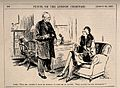 A fashionable lady asking her doctor what ailments he can in Wellcome V0011534.jpg