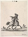 A horseman galloping towards right with sword in hand, other horsemen in the background, from 'Various cavalry exercises' (Diverses exercices de cavalerie) MET DP833136.jpg