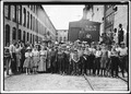 A part of the spinning force working in the Washington Cotton Mills. Group posed by overseer. All work. The overseer... - NARA - 523422.tif